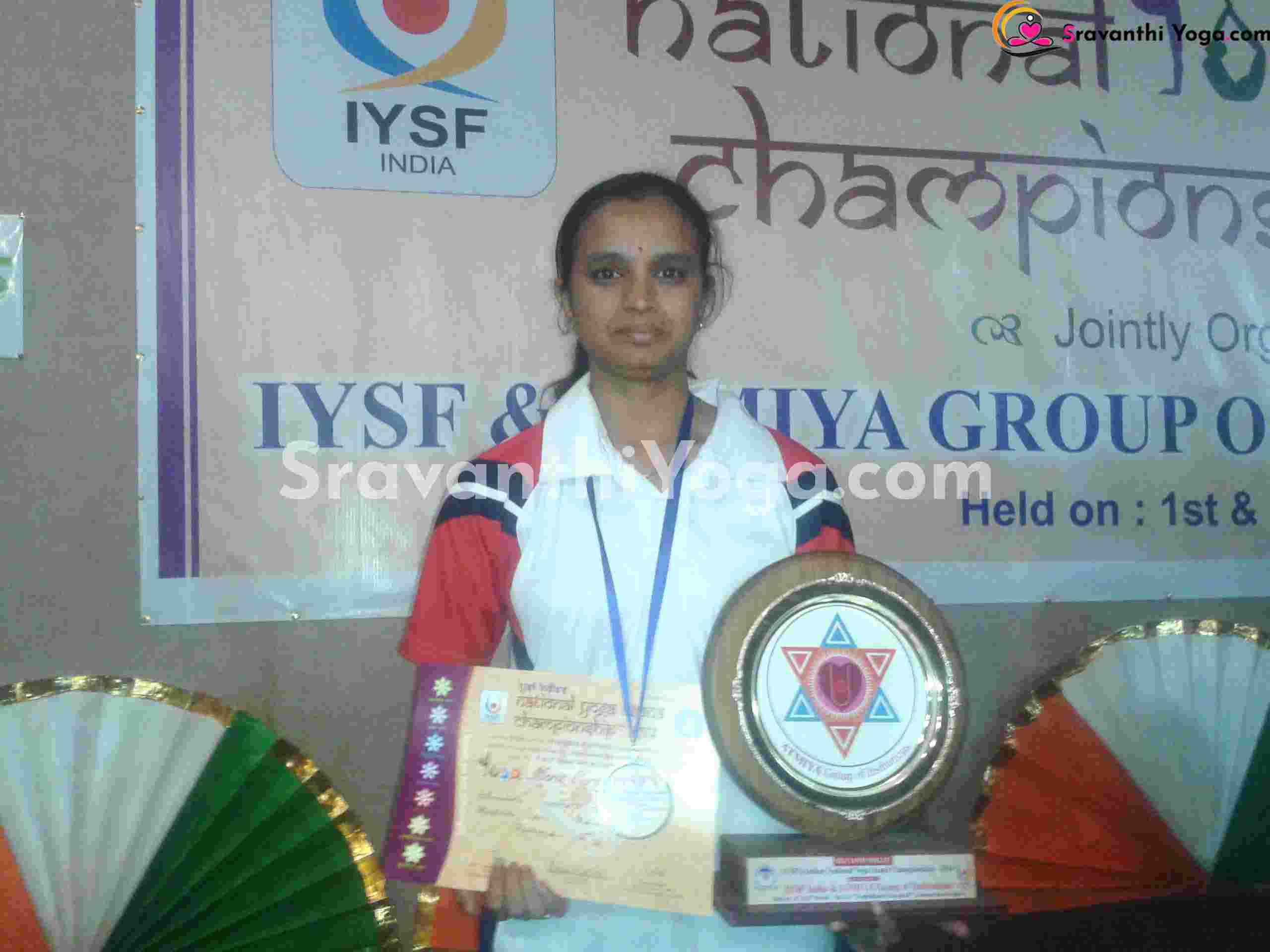 IYSF Gold Medal National competitions- Yoga Sravanthi