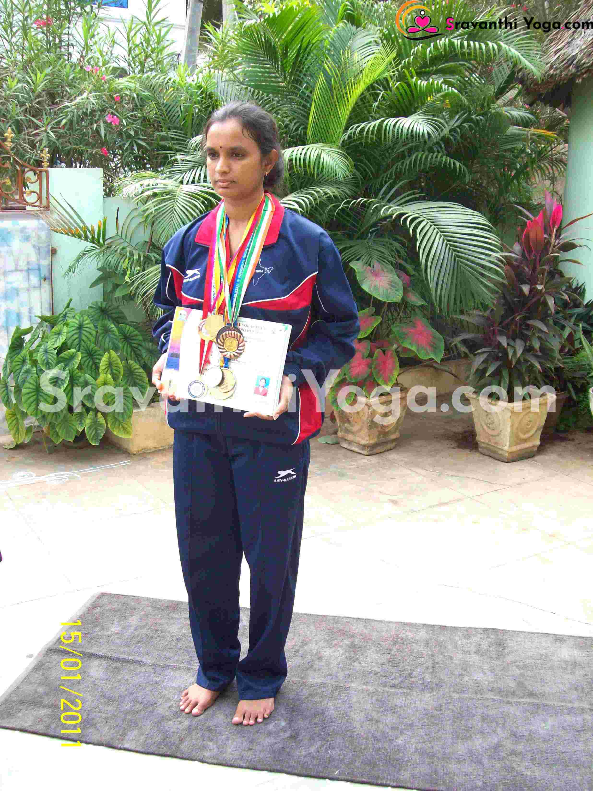 Medal achievement- Yoga Sravanthi